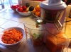 Hurom Slow Juicer with carrot juice